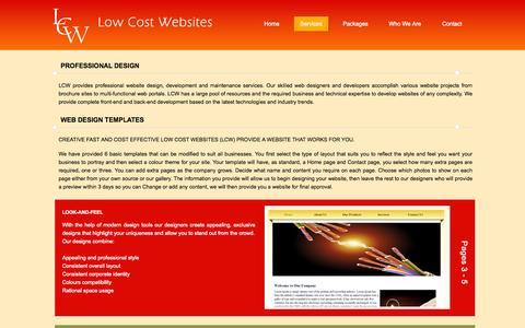 Screenshot of Services Page locostwebsites.co.uk - Low Cost Websites: Services - captured Oct. 4, 2014