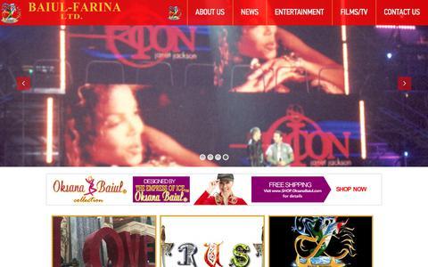 Screenshot of Home Page baiulfarina.com - BAIUL-FARINA LTD. - captured Sept. 4, 2017