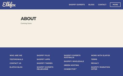 Screenshot of About Page elkfox.com - About – Elkfox | Digital Commerce Experts - captured May 17, 2017