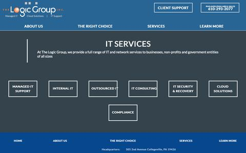 Screenshot of Services Page thelogicgroup.com - IT Services | The Logic Group, Inc. - captured Nov. 19, 2018