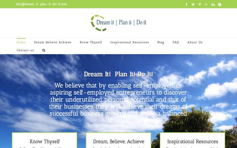 Screenshot of Home Page dream-it-plan-it-do-it.com - Dream it Plan it Do it | Self-Employment - captured Feb. 20, 2016
