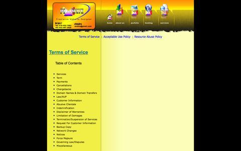 Screenshot of Terms Page davaoenyos.com - Pixwave - Davao Website Designer, Domain registation  & Web hosting Service - captured Jan. 28, 2016