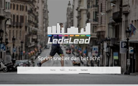 Screenshot of Contact Page ledslead.nl - Contact opnemen - LedsLead - captured Sept. 27, 2018