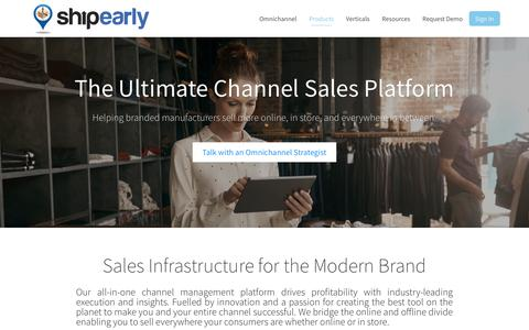 Screenshot of Products Page shipearly.com - Omnichannel eCommerce Solution ShipEarly - captured Oct. 20, 2017