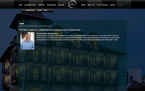 Screenshot of Team Page thepearlrb.com - About the Staff | The Pearl Luxury Hotel | 30A, South Walton, Santa Rosa Beach, FL - captured Oct. 2, 2014
