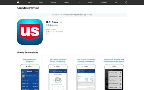 U.S. Bank on the AppStore