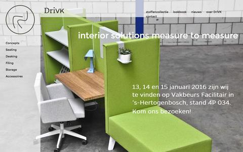 Screenshot of Home Page drivk.com - interior solutions measure to measure - DriVK - captured Jan. 7, 2016
