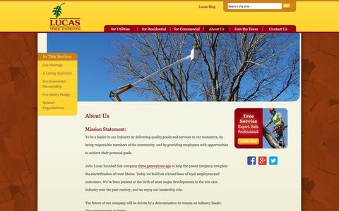 Screenshot of About Page lucastree.com - About Lucas Tree Experts | Lucas Tree Experts - captured Nov. 13, 2016