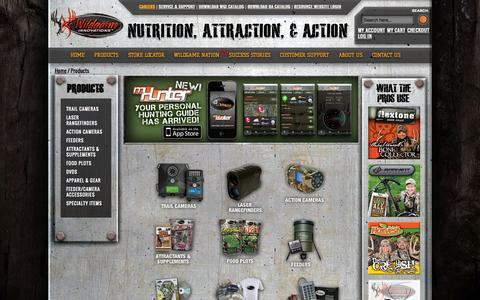 Screenshot of Products Page wildgameinnovations.com - Hunting Products | Food Plots | Trail Cameras | Wildgame Innovations - captured Sept. 24, 2014