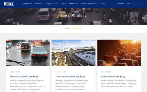 Screenshot of Case Studies Page inrix.com - Case Studies Archive - INRIX - captured Jan. 21, 2020