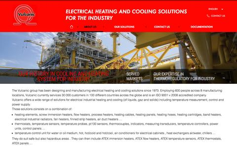 Screenshot of About Page vulcanic.com - Vulcanic, expert in cooling and heating system for industry since 1973 - captured Nov. 30, 2016