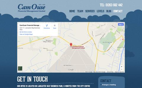 Screenshot of Contact Page camouse.co.uk - CamOuse - Contact - captured Oct. 1, 2014