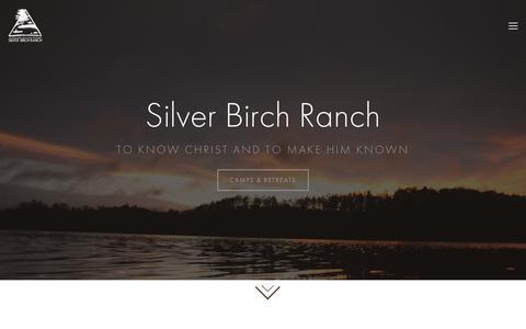 Screenshot of Home Page silverbirchranch.org - Silver Birch Ranch - captured Nov. 4, 2017