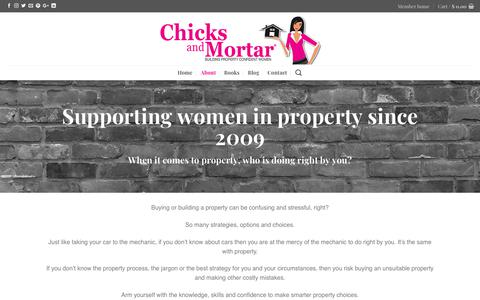 Screenshot of About Page chicksandmortar.com.au - About Chicks and Mortar - Women Investing in Property - captured Oct. 19, 2018
