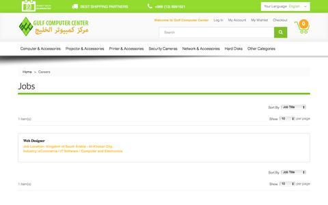 Screenshot of Jobs Page gcc.com.sa - Jobs Available - captured Sept. 22, 2016