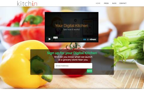 Screenshot of Home Page kitchin.co - Kitchin | A Digital Kitchen - captured Dec. 4, 2015