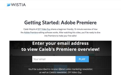 Getting Started with Adobe Premiere