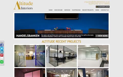 Screenshot of Case Studies Page altitudeinteriors.co.uk - Recent Project & Case Studies on Our Interior Designs   Altitude Interiors - captured Dec. 24, 2015