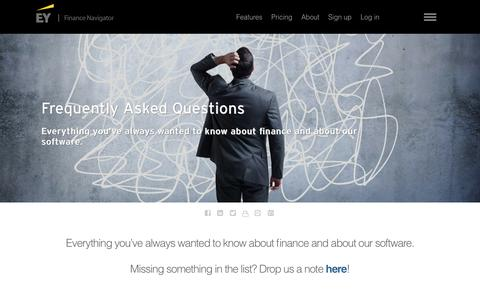 Screenshot of FAQ Page ey.com - EY - Finance Navigator: Frequently Asked Questions - EY - Nederland - captured July 8, 2018