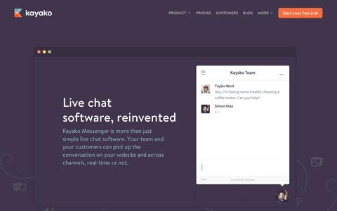 Live Chat Software as a part of Help Desk Software from Kayako