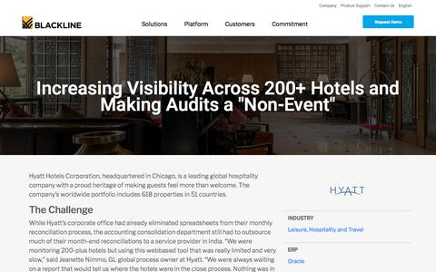 Screenshot of Case Studies Page blackline.com - Hyatt Hotels Corporation | BlackLine Customer - captured Nov. 29, 2019