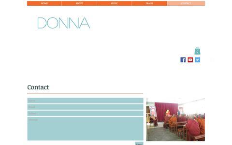 Screenshot of Contact Page donnakayfaulkner.com - DONNA:  Contact - captured Aug. 6, 2017