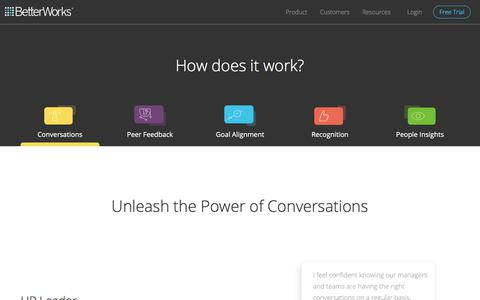 Real-time Employee Conversations with Continuous Performance Management Software | BetterWorks