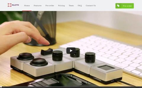 Screenshot of Home Page palettegear.com - Palette - captured July 17, 2014