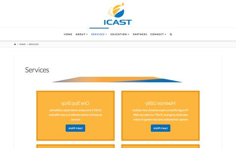 Screenshot of Services Page icastusa.org - Services Offered - Comprehensive Housing Rehabilitation & More - captured Feb. 14, 2018