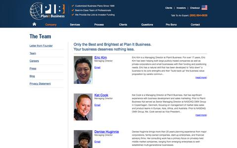 Screenshot of Team Page planitbusiness.com - Only the Best and Brightest at PlanIt Business – Meet the Team! | PlanIt Business - captured Oct. 2, 2014