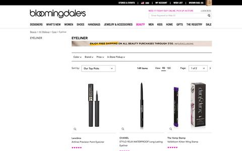 Eyeliner: Gel, Liquid Eyeliner & Eyeliner Brush - Bloomingdale's