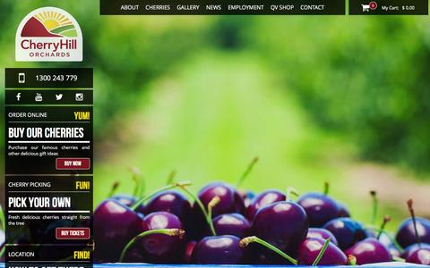 Screenshot of Home Page cherryhill.com.au - Fresh Cherries direct to your door Cherryhill Orchards a Cherry farm in Melbourne - captured Jan. 27, 2016