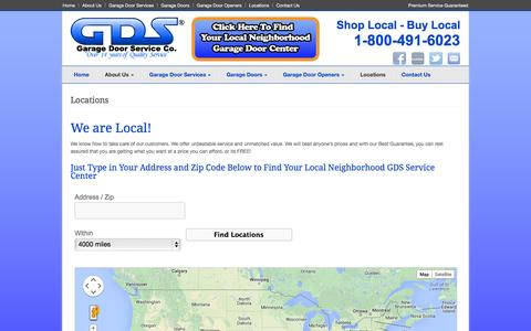 Screenshot of Locations Page garagedoorservice.com - Garage Door Services Locations - Garage Door Service - captured Oct. 1, 2014