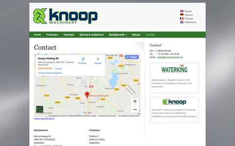 Screenshot of Contact Page knoopmachinery.nl - Contact Knoop Machinery BV - captured Oct. 15, 2018