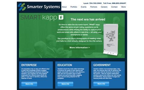 Screenshot of Home Page smartersys.com - Smarter Systems: AV Consultancy - captured Oct. 7, 2014