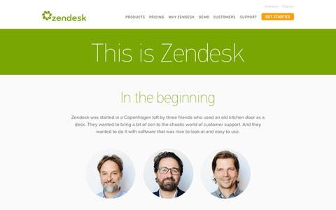 Screenshot of About Page zendesk.com - About | Zendesk - captured Nov. 17, 2015