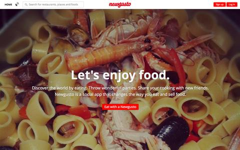 Screenshot of Home Page newgusto.com - Discover the world by eating with Newgusto. - captured Feb. 16, 2016