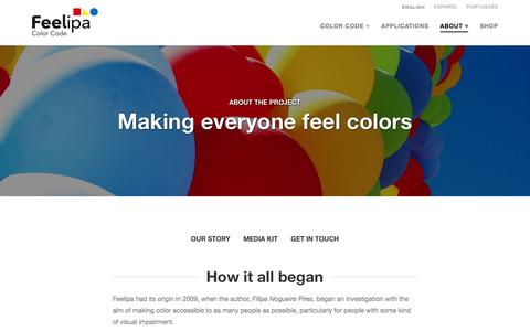 Screenshot of About Page Contact Page feelipa.com - About   Feelipa Color Code - captured Feb. 9, 2016