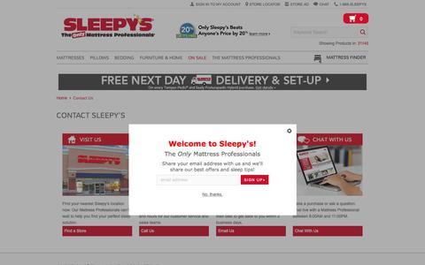 Contact Us - Sleepy's