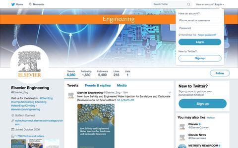 Elsevier Engineering (@Elsevier_Eng) | Twitter