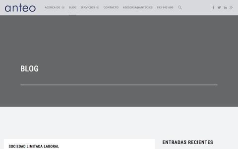 Screenshot of Blog anteo.es - Blog de consultoría y asesoría de empresas | Anteo - captured Feb. 5, 2016
