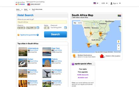 South Africa Hotels - Online hotel reservations for Hotels in South Africa