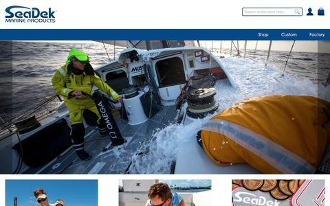 Screenshot of Home Page seadek.com - SeaDek - captured July 1, 2019