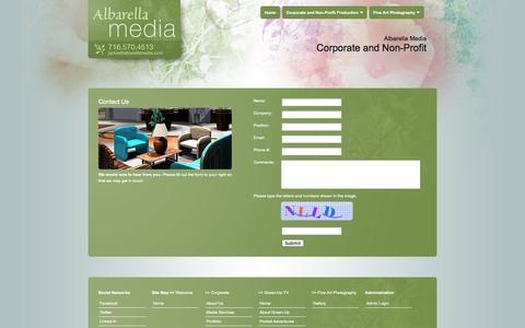 Screenshot of Contact Page albarellamedia.com - Albarella Media :: Contact Us - captured Sept. 30, 2014