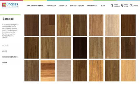 Screenshot of choicesflooring.com.au - Bamboo Flooring | Quick-Step Arc Bamboo | Choices Flooring - captured July 16, 2017