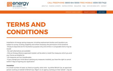 Screenshot of Terms Page energy-alliance.co.uk - Energy AllianceTerms and Conditions - Energy Alliance - captured May 19, 2017