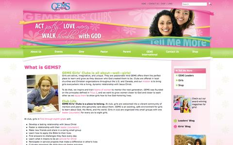 Screenshot of About Page gemsgc.org - What is GEMS?   GEMS Girls' Clubs - captured Oct. 1, 2014