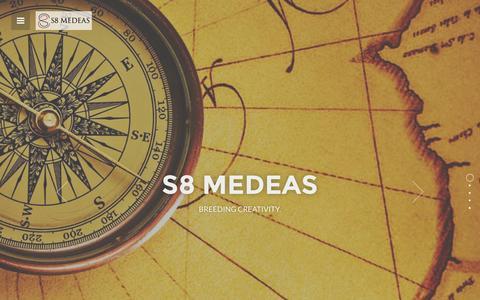 Screenshot of Home Page s8medeas.com - S8 MEDEAS - captured Sept. 30, 2014