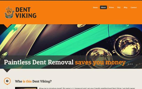 Screenshot of About Page dentviking.com - About   Dent Viking - captured Sept. 30, 2014