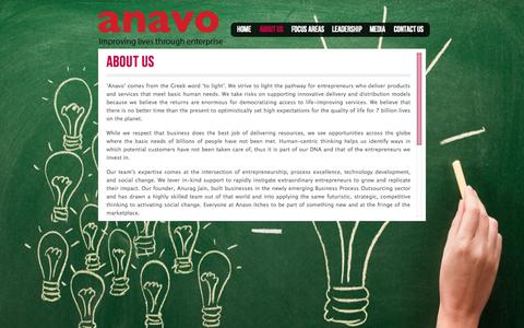 Screenshot of About Page anavoglobal.com - About Us | Anavo - captured Oct. 1, 2014